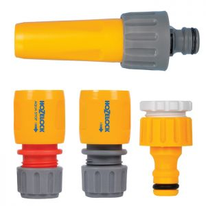 Hozelock 2355 Hose Nozzle and Fittings Starter Set