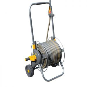 Hozelock 2436 Premium Metal Cart with 50m Hose and Gun