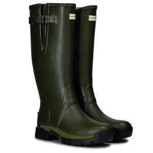 Hunter Balmoral Side Adjustable Neoprene Wellington Boots - Dark Olive
