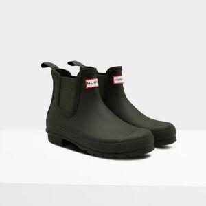 Hunter Ladies Original Chelsea Boot – Dark Olive