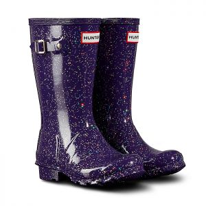 Hunter Original Children's Glitter Wellington Boots – Cavendish Blue Purple