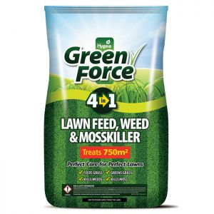 Hygeia Greenforce 4 in 1 Lawn Feed, Weed & Moss Killer, 15kg – 750m²