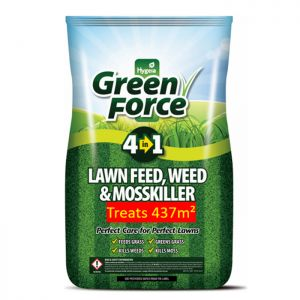 Hygeia Green Force 4 in 1 Lawn Feed, Weed & Moss Killer, 8.75kg – 437m²