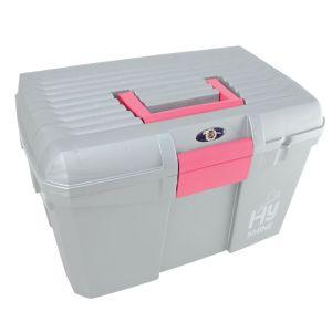 HyShine Tack Box - Silver/Raspberry