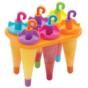 KitchenCraft Umbrella Lolly Makers With Stand - Set of 6