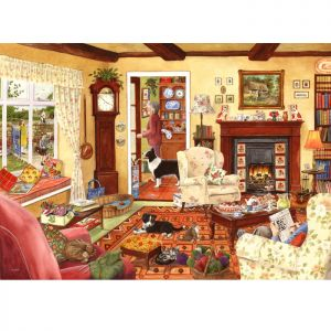 House Of Puzzles Big 500 The Harrow Collection MC542 In Time For Tea Jigsaw Puzzle - 500 Piece