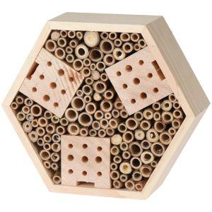 Insect Hotel Hexagon Shape - 22.5cm x 20cm x 7.5cm