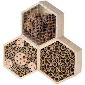 Insect Hotel Hexagon Shape - 35cm x 35cm x 7.5cm