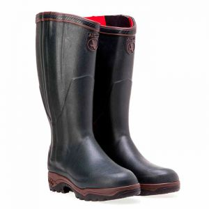 Aigle Parcours 2 ISO Open Wellingtons with Zip - Bronze