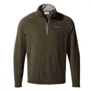 Men's Corey V Half Zip Fleece - Woodland Green