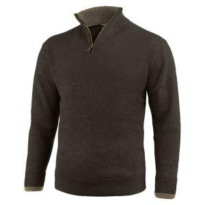 Jack Pyke Men's Ashcombe Zip Pullover – Dark Olive