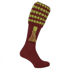 Jack Pyke Men's Pebble Shooting Socks – Burgundy