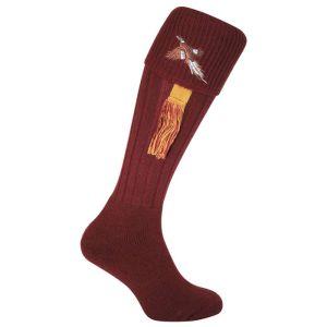 Jack Pyke Men's Pheasant Shooting Socks – Burgundy