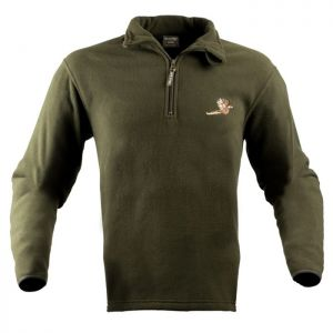 Jack Pyke Men's Pheasant Motif Fleece Pullover – Green