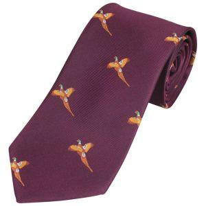 Jack Pyke Men's Pheasant Shooting Tie – Wine