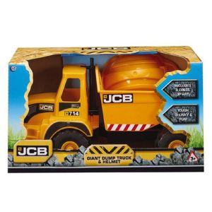 JCB Giant Dump Truck Toy and Helmet