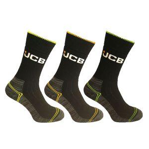 JCB High Vis Boot Socks – Pack of 3