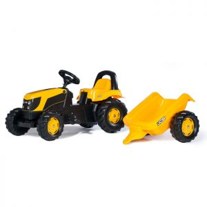 JCB Rolly Ride-On Tractor & Trailer
