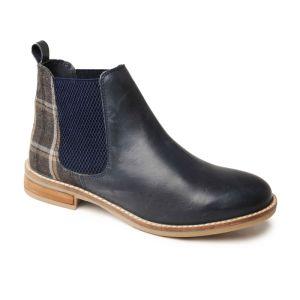 Silver Street Women's Jenny Dealer Boots - Navy/Tweed