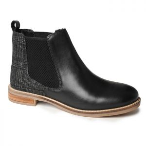 Silver Street Jenny Dealer Boots – Black/Tweed