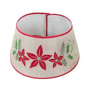 Jingles Red Poinsettia Tree Collar – 57cm