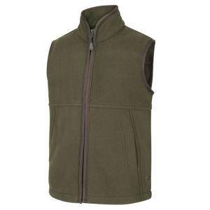 Hoggs of Fife Junior Woodhall Fleece Gilet - Green