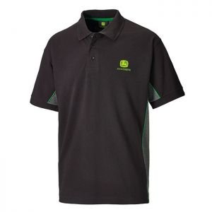 John Deere 365 Polo Shirt - Black