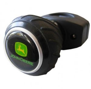 John Deere Deluxe Steering Wheel Spinner Knob - Black