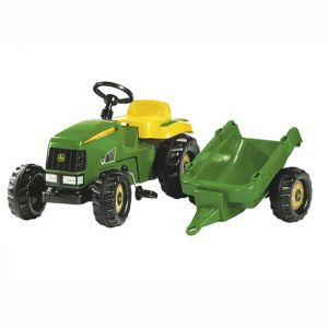 John Deere Rolly Ride-On Tractor with Trailer