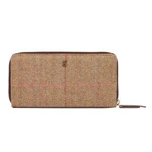 Joules Adeline Tweed Purse – Dark Brown Check