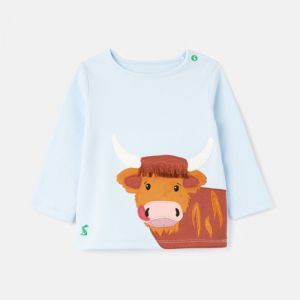 Joules Baby Angus Cotton T-Shirt – Baby Blue Cow