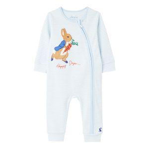 Joules Baby Peter Rabbit Windfield Babygrow – Blue Stripe Peter