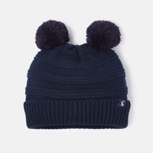 Joules Baby Pom Pom Knitted Hat – French Navy