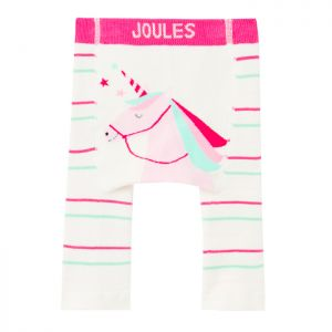 Joules Baby Winter Lively Knit Leggings – Pink Unicorn