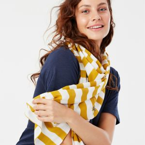 Joules Conway Lightweight Printed Scarf – Botanical Bee Ombre