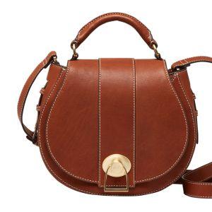 Joules Langton Leather Saddle Bag – Medium Tan