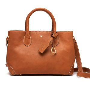 Joules Langton Mini Leather Bag – Medium Tan