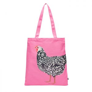 Joules Lulu Canvas Tote Bag – Pink Chicken