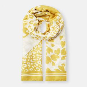 Joules River Scarf – Gold Animal Print
