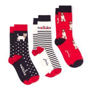 Joules Women's Brill Bamboo Socks, Pack of 3 – Cream Dog Walk