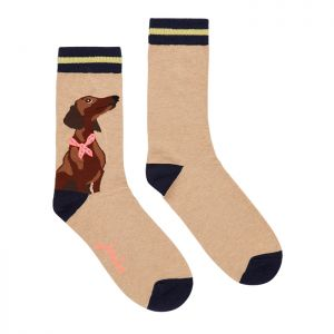 Joules Women's Brill Bamboo Socks – Oat Sausage Dog