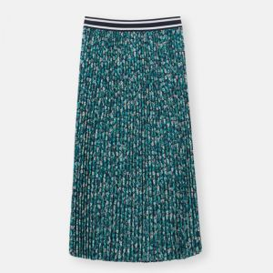 Joules Women's Eila Pleated Skirt – Navy Ditsy Floral