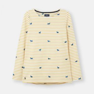 Joules Women's Harbour Jersey Top – Yellow Dog Stripe