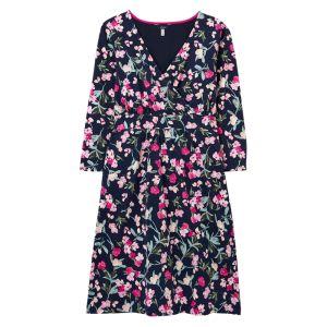 Joules Women's Jude Print Wrap Dress – Navy Floral