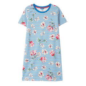 Joules Women's Liberty Dress – Blue Floral Stripe