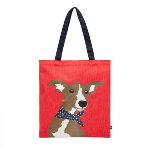 Joules Lulu Canvas Tote Bag – Red Whippet Dog