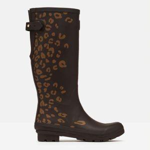 Joules Women's Printed Wellies – Brown Leopard