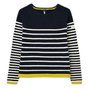 Joules Women's Seaport Knitted Jumper – Navy Stripe
