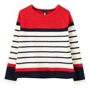 Joules Women's Seaport Knitted Jumper – Red Stripe