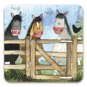 Alex Clark The Gate Horses Fridge Magnet